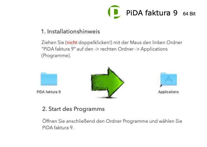 PiDA faktura installieren Schritt 2