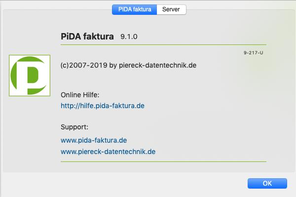 PiDA faktura 9.1 Wartungsupdate
