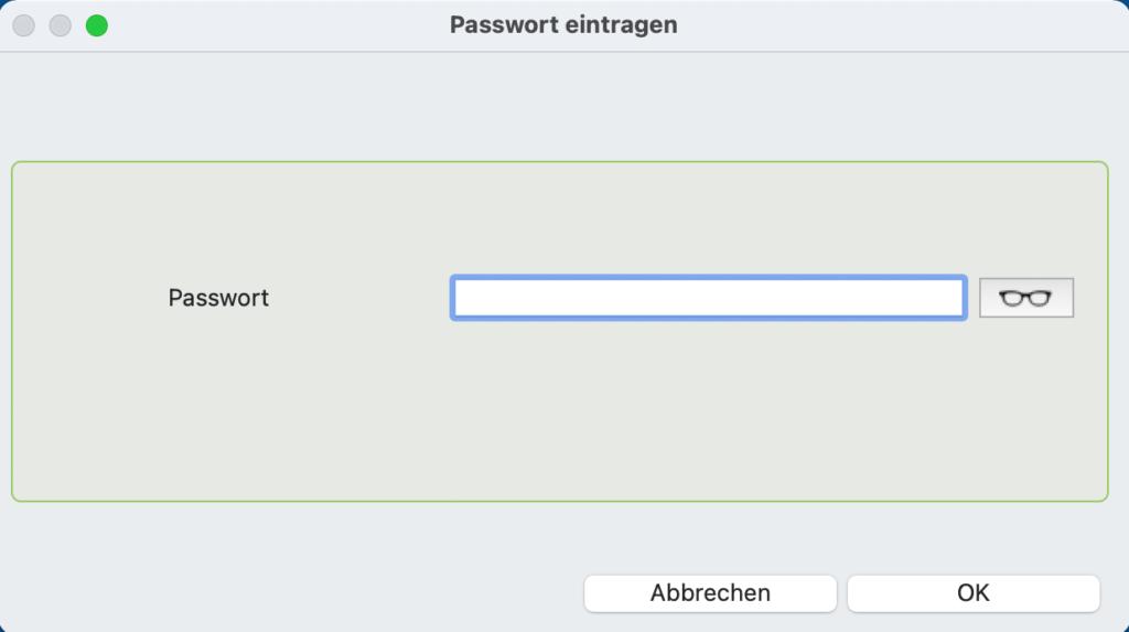 PIDA faktura 9.5 Passwort